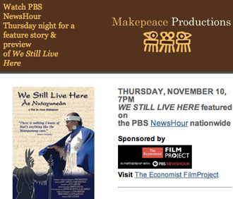 Makepeace Productions Newsletter: November7, 2011