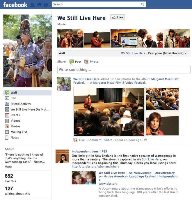 We Still Live Here on Facebook